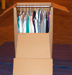 Wardrobe box with metal bar, 24`` wide - $15.00/ctn