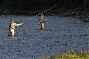 Fly fishing in Iron Mountain Michigan