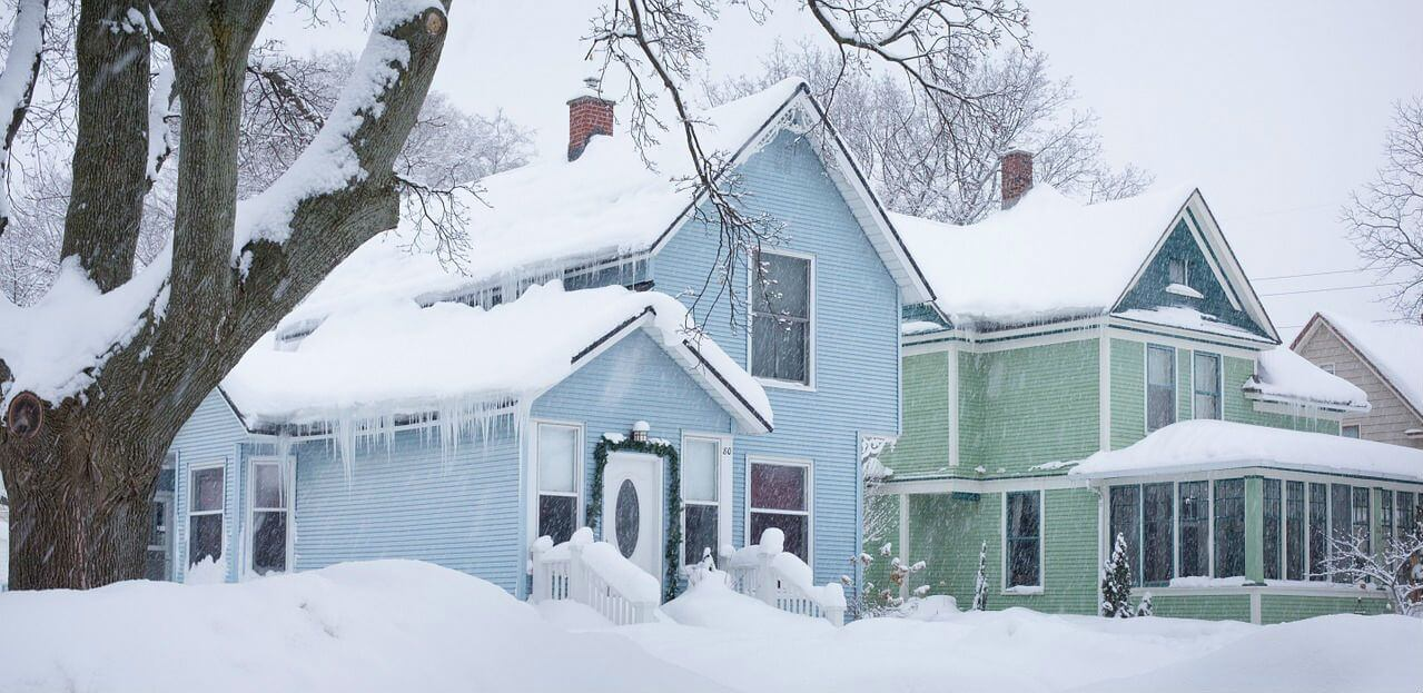 Snowy Michigan Home