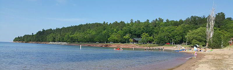beach in Marquette, MI