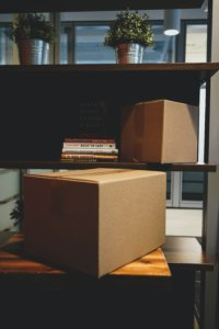 boxes on a desk